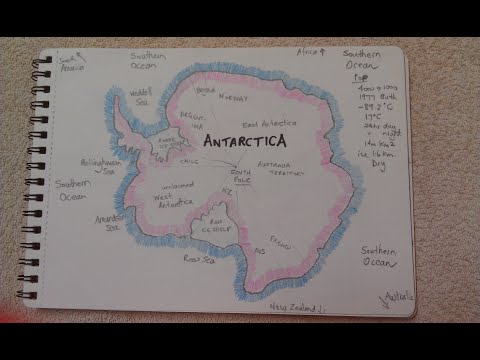 ASMR - Map Of Antarctica - Australian Accent - Chewing Gum, Drawing & Describing In A Quiet Whisper
