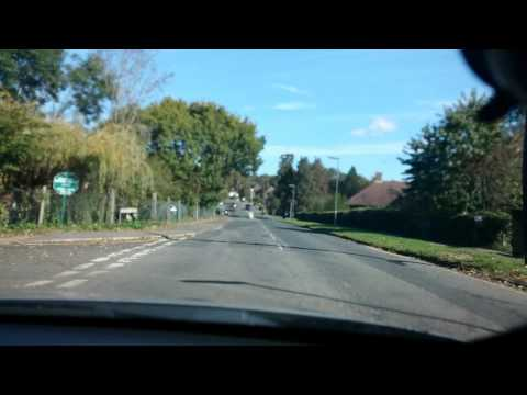 Oxted (Surrey) drive - Sunday morning - Hard Breaking - Full HD
