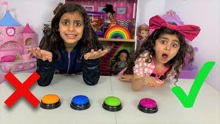 Don't Push the Wrong Button Challenge with Sally fun tube!!
