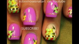 Nail Art Tutorial | Easy Spring Nails | Diy Pastel Flower Nail Design!!! Designs