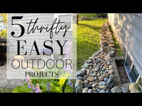 5 Thrifty, EASY Outdoor DIY Projects!