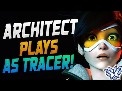 ARCHITECT PLAYS AS TRACER - 4244 SR! [ OVERWATCH SEASON 14 TOP 500 ] thumbnail