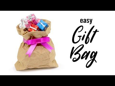 Easy DIY Origami Paper Gift Bag Tutorial - Paper Kawaii