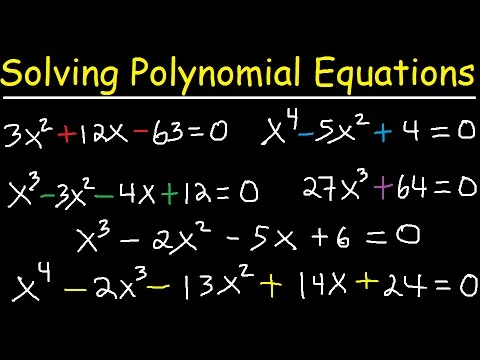 Solving Polynomial Equations By Factoring and Using Synthetic Division - Algebra 2 & Precalculus