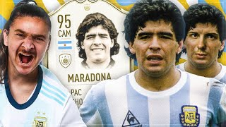 FIFA 20: 95 ICON MARADONA Squad Builder BATTLE 😱🔥 vs DerKeller
