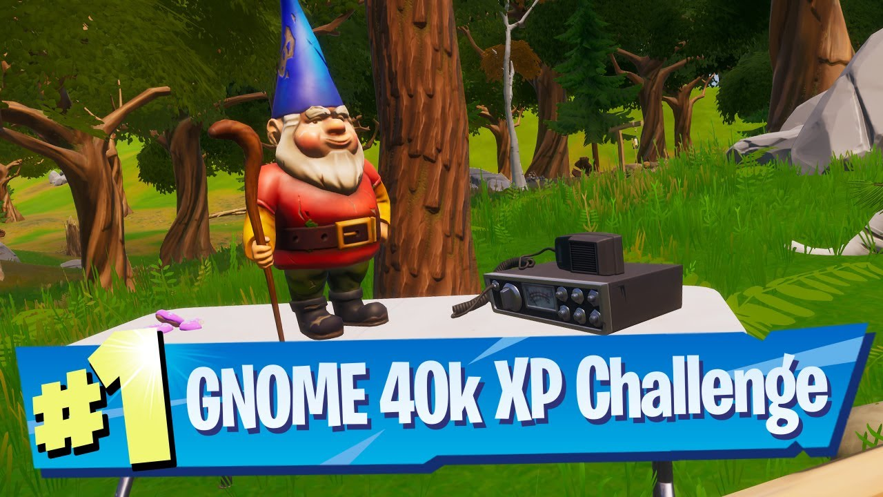 Where Can I Find Gnomes In Fortnite For The Gnomes Secret 40k Xp Challenge Location Fortnite Battle Royale Youtube