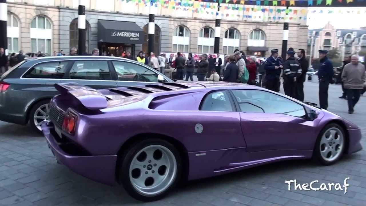 Purple Lamborghini Diablo Se30 Engine Stall Start Up 1 Of 150 Youtube
