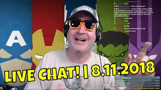 CHAT, COFFEE, CARTOONS, REVIEW, UN-BOXING, MORE! 🤓🖖 | 8.11.18 [REPLAY]