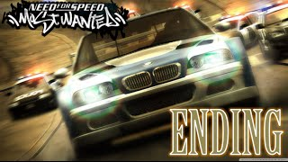 NFS Most Wanted (2005) ENDING (FINAL PURSUIT) | RUNNING FROM THE COPS | *manual transmission