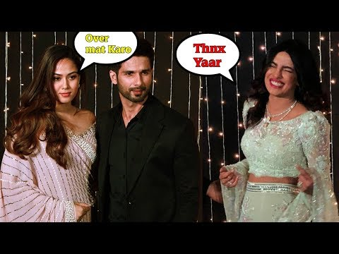 EX SHAHID KAPOOR UNCOMFORTABLE at PRIYANKA CHOPRA'S WEDIING RECEPTION