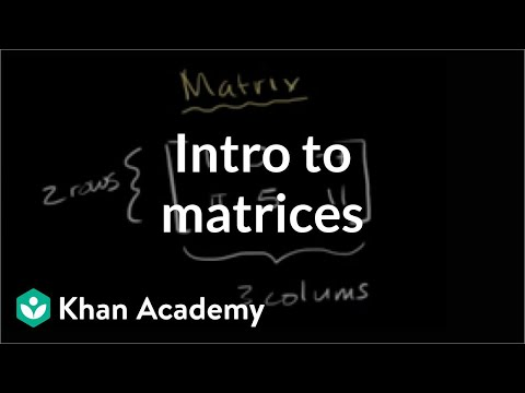 Introduction to the matrix | Matrices | Precalculus | Khan A