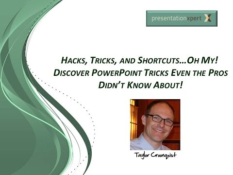 Hacks, Tricks, and Shortcuts...Oh My!  Discover PowerPoint Tricks Even the Pros Didn't Know About!