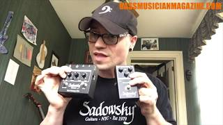 Bass Musician Magazine Reviews Sadowsky Preamp/DI Pedals SBP 1 & SBP 2