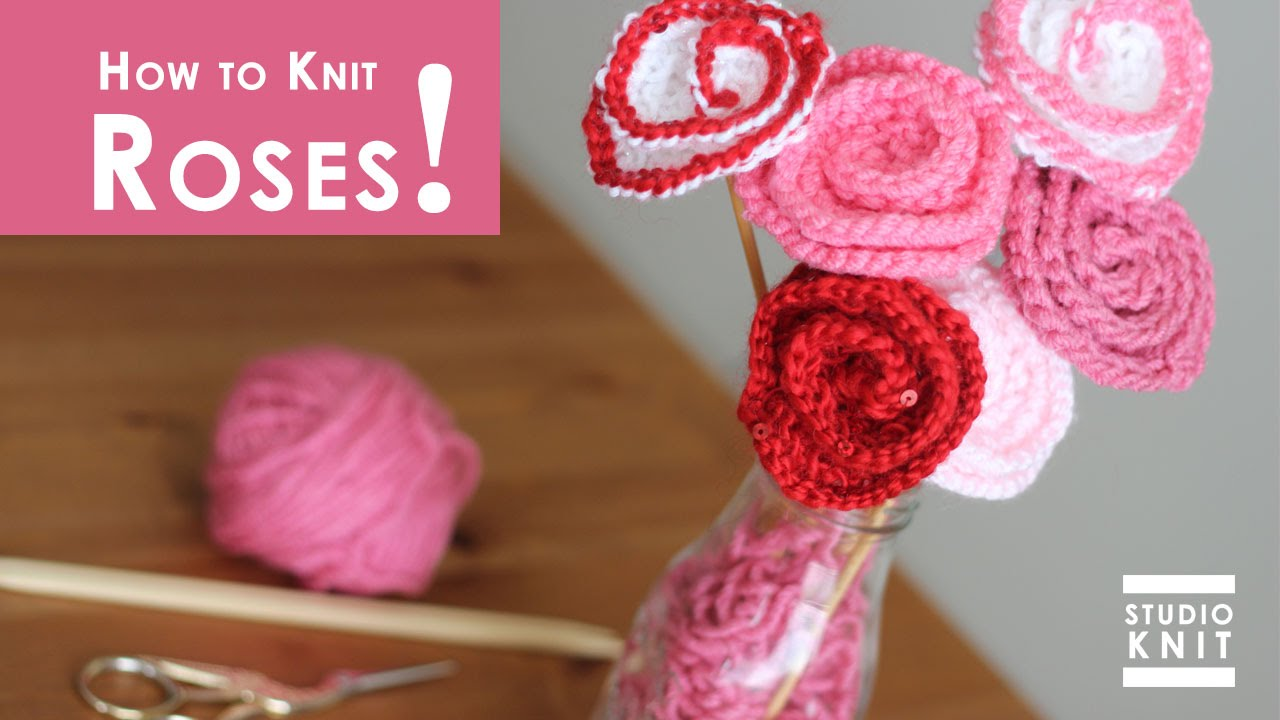 How to knit rose flowers summer knit series youtube bankloansurffo Images
