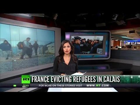 [708] France begins evicting Calais camp refugees
