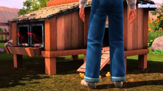 Tim The Sim Is Testing The The Sims 3 Chicken Coop