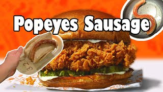 Popeyes Spicy Chicken Sandwich Sausage