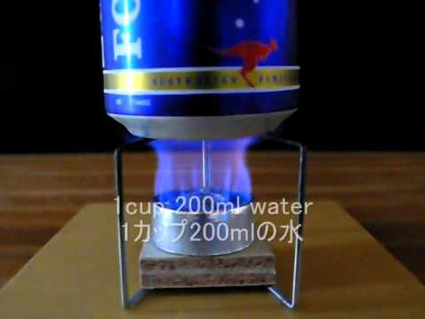 Worlds lightest open-jet alcohol stove?