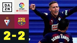 Traumtor! De Blasis konntert Lionel Messis Doppelpack: SD Eibar - FC Barcelona 2:2 | La Liga | DAZN