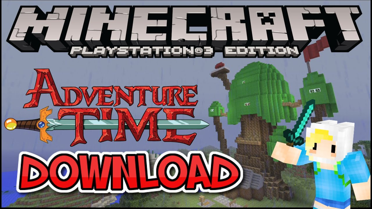 ADVENTURE TIME ADVENTURE MAP DOWNLOAD TRICKLIFE101 MINECRAFT PS3