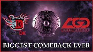 LGD BIGGEST Comeback Ever vs DK @ TI4