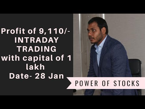 Live trading video 9k profit of trading | Intraday live trading ||profits with in 1 hour