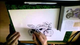 Dessin Suzuki GSX-R 750 de Burn-Racer 1310 (speed drawing)