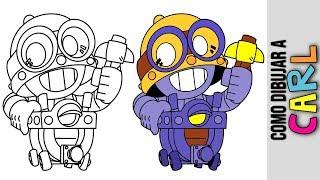 Como Dibujar Carl De Brawl Stars ★ Como Usar A Carl ★ Como Obtener A Carl ★ Como Conseguir A Carl