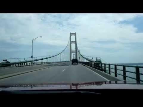 Drive over the Mackinac Bridge