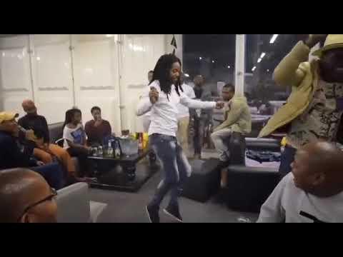 Sbu from Uzalo dancing at Eyadini Lounge