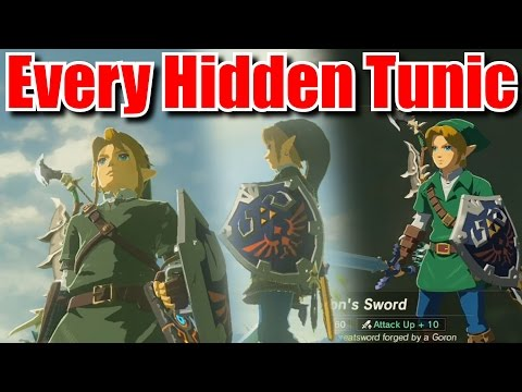 Fastest Way to Unlock Every Green Tunic - Zelda Breath of the Wild Tips and Tricks