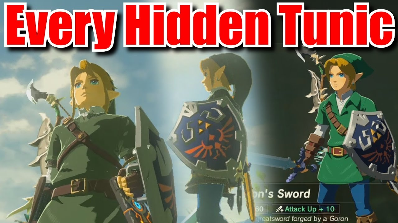 d585d54b8b98 Fastest Way to Unlock Every Green Tunic - Zelda Breath of the Wild Tips and  Tricks