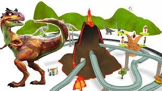 Dinosaur cartoon - Dinosaur for children - JURASSIC park - Toy Train for kids - Cartoons
