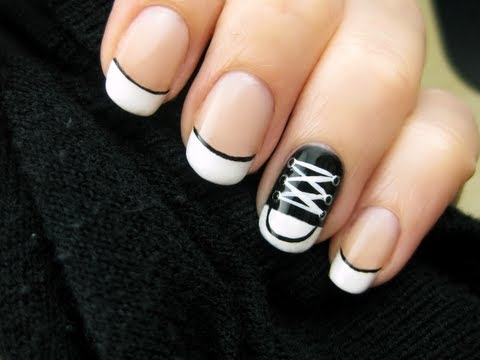 Converse Shoe Nail Art Youtube