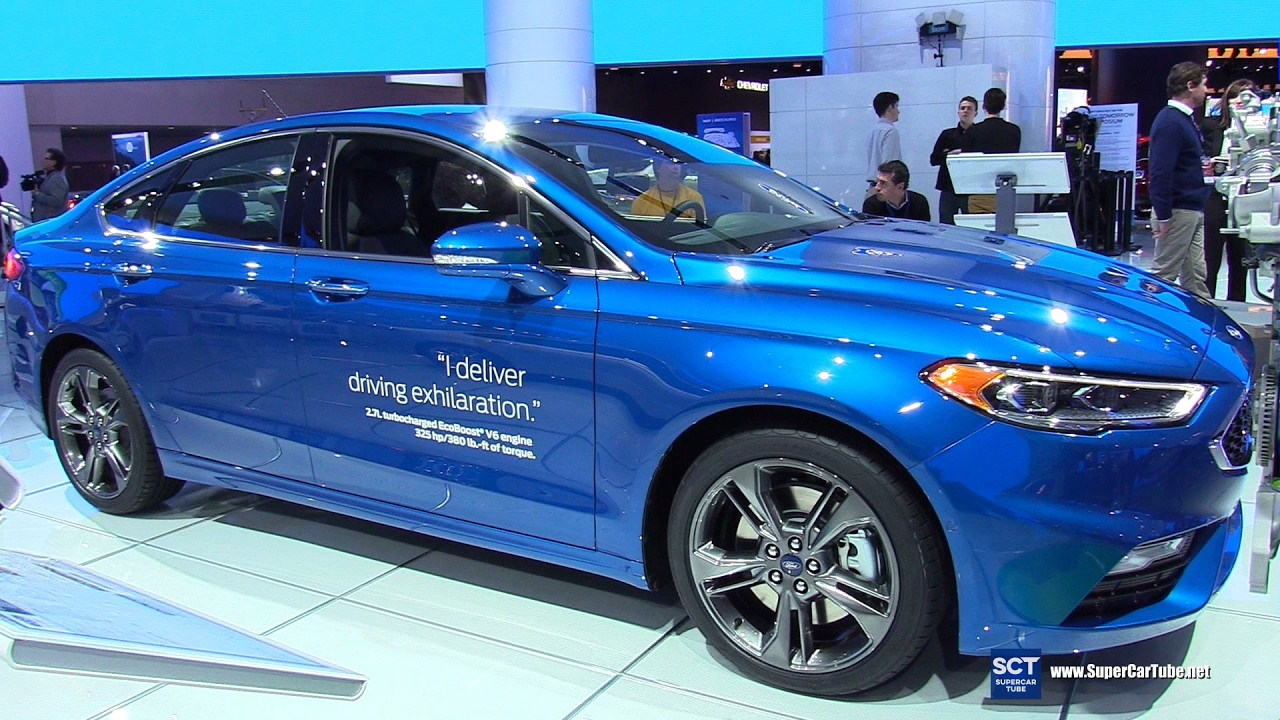 2017 ford fusion sport awd exterior and interior walkaround 2017 detroit auto show youtube. Black Bedroom Furniture Sets. Home Design Ideas