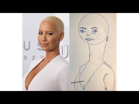 Fan art by @Tw1tterPicasso | Amber Rose, Chris Bosh, and others...
