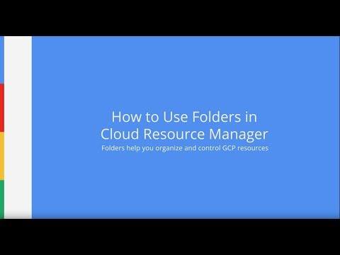 How to Use Folders in Cloud Resource Manager