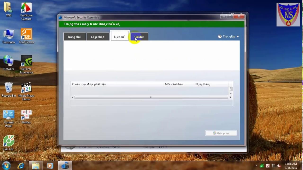 Hướng dẫn cài đặt phần mềm diệt virus microsoft security essentials nhẹ tốt nhất
