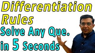Differentiation | Solve Any Que. in 5 Seconds | Class 12 CBSE NCERT Maths in Hindi | Lecture 3
