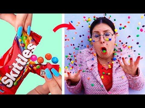 Sınıfa Gizlice Yiyecek Sokmanın 15 Tuhaf Yolu / Okul Şakaları ve Pratik Bilgiler