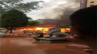 Cháy lớn ở đền mẫu - đồng đăng - lạng sơn