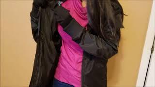 BOMBAX Women Travel Jacket With 10 Hidden Pockets& Inflatable Pillow.