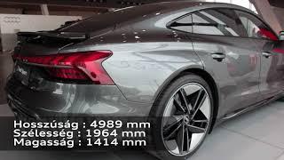 Audi RS e Tron GT szalonbemutató Kelemen Lászlóval
