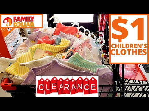 FAMILY DOLLAR🔥😱 CLEARANCE ON CHILDREN'S CLOTHES || $1 CLEARANCE CHILDREN'S CLOTHES AT FAMILY DOLLA
