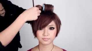 Repeat youtube video 自宅で出来る サロン仕様のショートアレンジ 池田沙代 【ヘアアレンジ】hair arrange tutorial