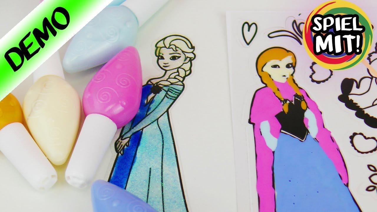 Frozen Eiskönign Anna Fensterbild Selber Machen Mit Jelly Stickers