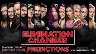 WWE ELIMINATION CHAMBER 2018 PPV Event Match Card and Predictions Rundown
