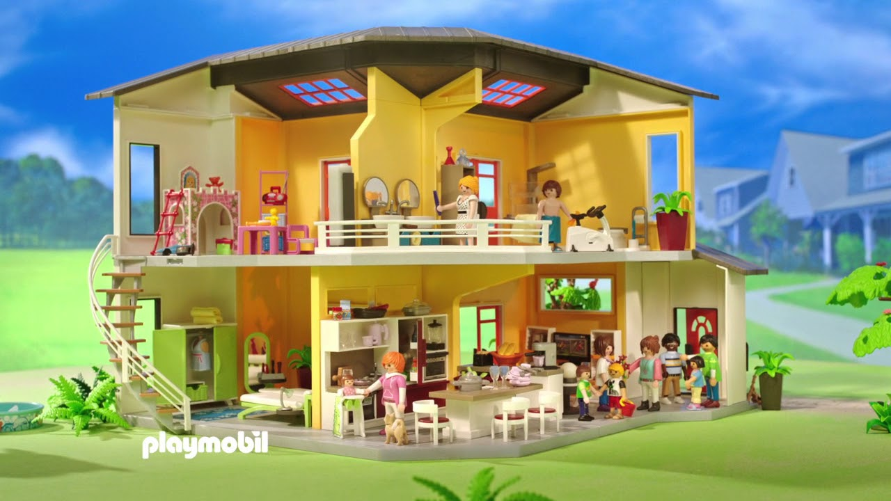 Playmobil moderna villa youtube for Casa moderna 2019