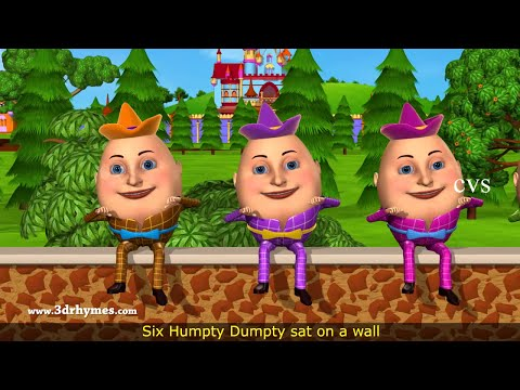 Thumbnail: Humpty Dumpty Nursery Rhyme - 3D Animation English Rhymes for children