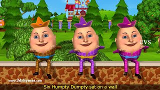 Humpty Dumpty Nursery Rhyme - 3D Animation English Rhymes for children thumbnail